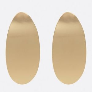 New Gold Oval Drop Earrings